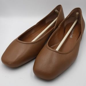 Toffee-colored ballet flats size 7